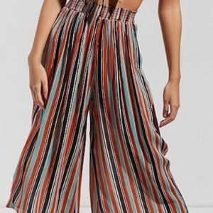 urban Outfitters Striped Culotte Pants